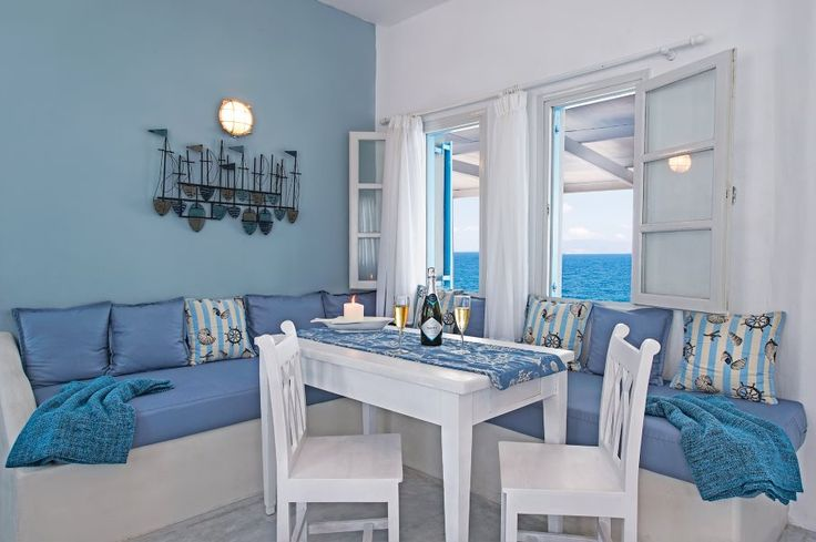 Retreat by the sea side...  this stylish seaside villa and is located only 4 minutes drive from Oia village, on a long volcanic black sandy beach, offering privacy and space to couples on a romantic getaway vacation, families with children, friends travelling together and all people who want to be away from the heavy crowds in Oia, yet close enough to enjoy all! #vacationrentals #villas