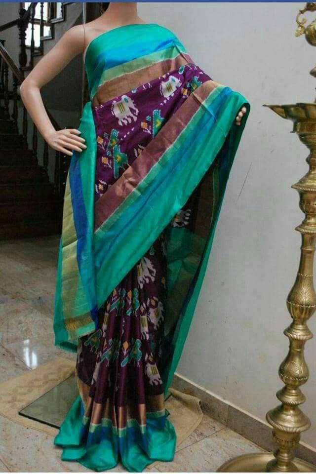 Asd collection, ikat silk saree, 8000/-