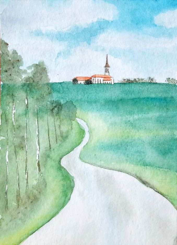 Progressons Ensemble A L Aquarelle En 2020 Paysage Aquarelle