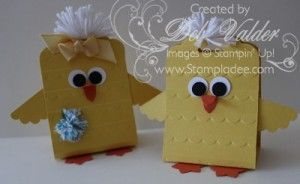 Scalloped Tag Topper Punch Easter Chick with Deb Valder
