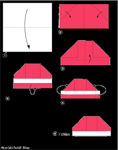 Оригами шляпа лодка