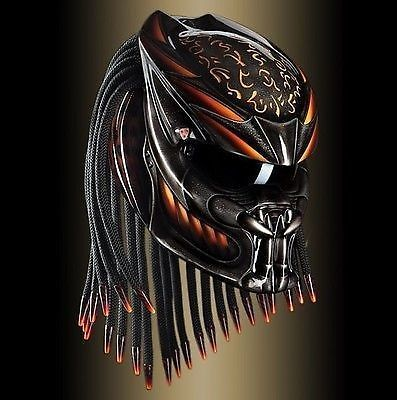 THE ALIEN PREDATOR HELMET CUSTOM STYLE DOT APPROVED #CELLOS