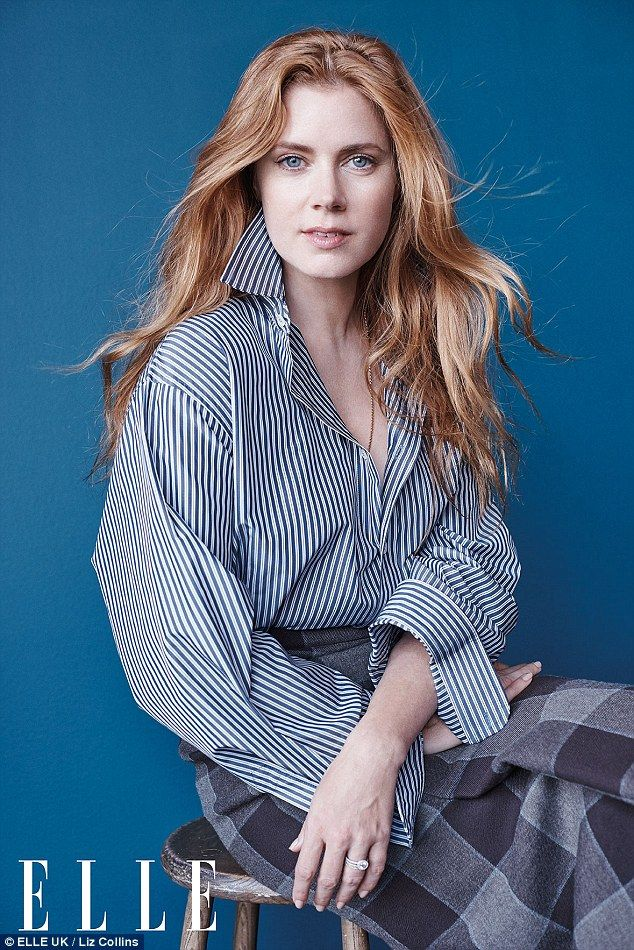Weight off her shoulders: Amy Adams, 42, has revealed she used to carry to much weight of expectation when it came to her work and family life, in an interview with ELLE Magazine