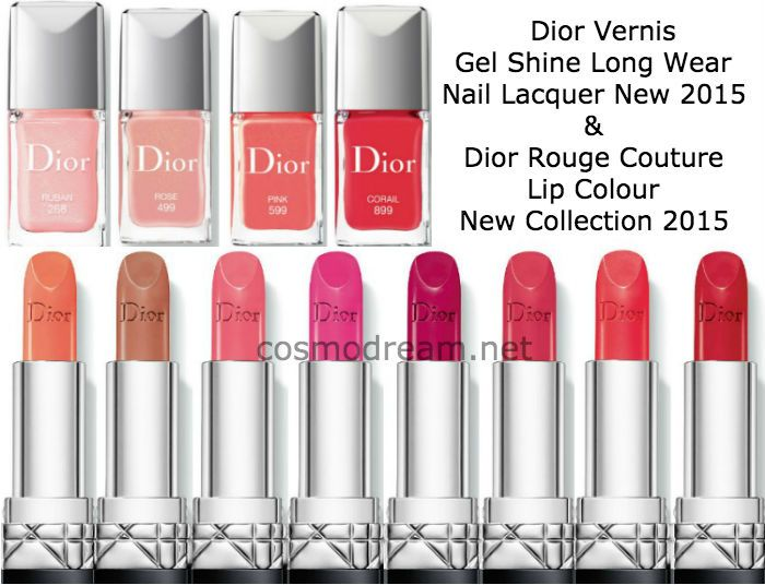 Новые помады и лаки Диор весна лето 2015 New Dior Rouge Dior Couture Colour Lipstick & Dior Vernis Gel Shine Nail Lacquer for Spring 2015