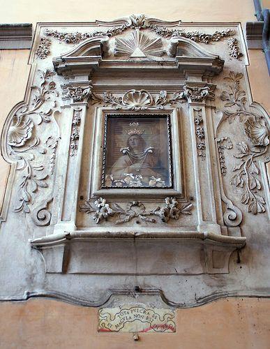 Rom, Via dei Cappellari (Straße der Hutmacher / street of the hatters), Madonna