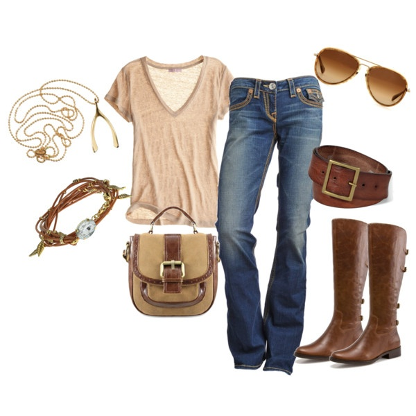 OutfitCasual Outfit, Casual Chic, Country Casual, Fashion Style, Klamotten Outfit, Brown Bags, Comfy Casual, Clothing Combos, Country Look