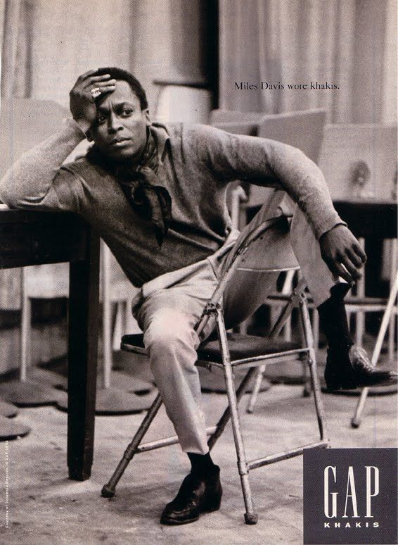 I loved this old Gap campaign — simple candid shots of iconic celebs. There was something for everyone: if you weren't into James Dean, then there'd be a shot of John Wayne or Sammy Davis—but the prevailing message was that kakhis were cool. Thanks to work like this, the Gap brand (and profits) soared in the 1990s.