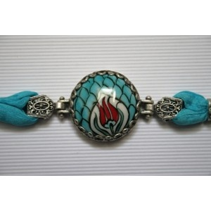 Turkish Hand Painted Iznik Ceramic Bracelet