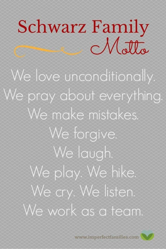 the importance of a family motto
