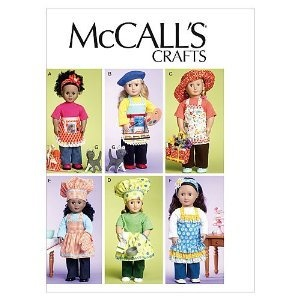 """18 """" Doll Aprons, Garden & Chef Hats, Cat Bag: Doll Clothes, Girl Doll, Cat, Patterns, Dolls, Bag, 18 46Cm, American Girl"""