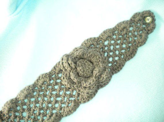 PATTERN for Crochet Net Headband