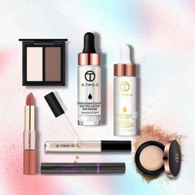 OTWOO Make Up Set Powder 24K Gold Face Oil Brighten Concealer Lipstick $38.24
