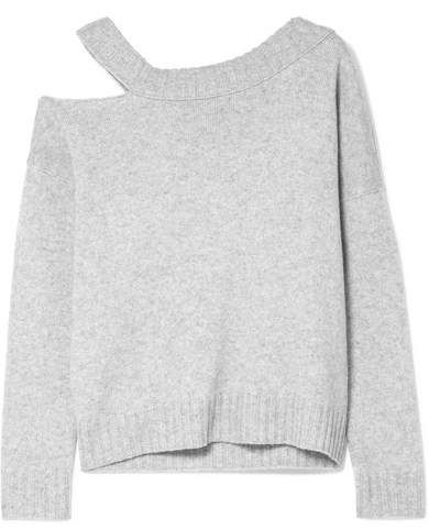 0d95d7cbe6c Vince One-shoulder Cutout Wool And Cashmere-blend Sweater - Gray ...