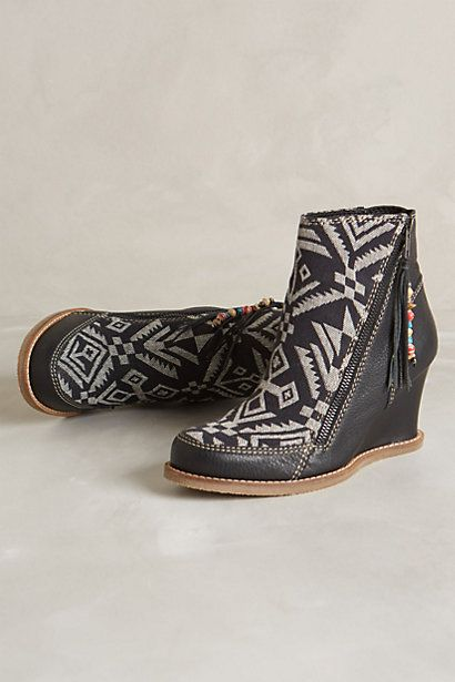 Tapestry Wedge Boots - anthropologie.com
