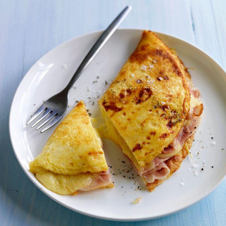 Découvrez la recette de l'omelette au jambon