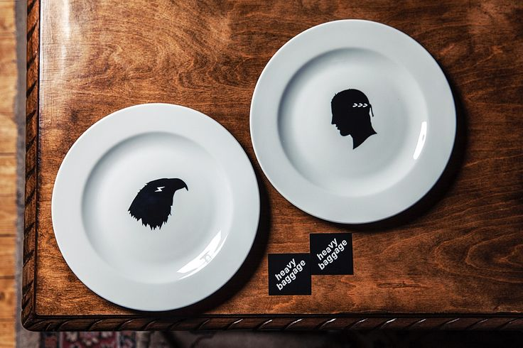 Zeus + Ganymedes Dinner plates for two / Heavy Baggage Design