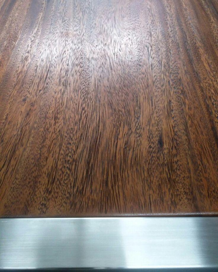 Black wash finish on a raised grain meets stainless steel.  www.zenporium.com  #texturetuesdays #woodandsteel #InteriorDesign #rusticmodern #industrialdesign #sustainabledesign #greenliving #rusticcharm #woodlove #solidwoodfurniture #woodporn #coffeetables #texturetuesday #guiltfreewood #shoponline #Zenporium