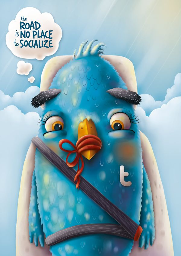 Don't tweet while driving  (by Fil Dunsky)