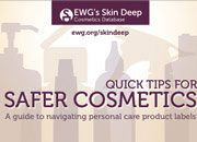 Environmental Working Group Skin Deep personal care products database