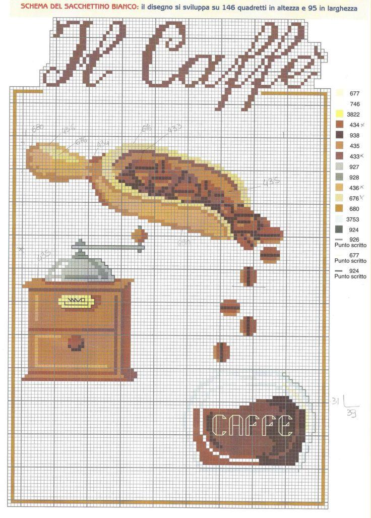Schema punto croce Tema-caffe