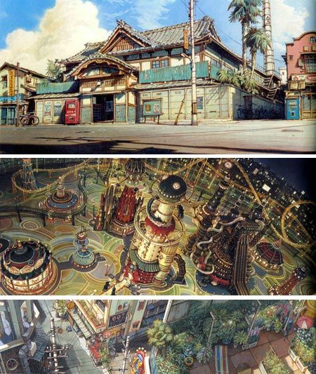 Tekkonkinkreet backgrounds