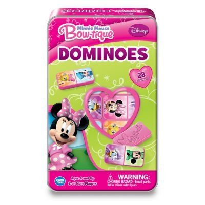 Disney Minnie Mouse Bow-tique Dominoes Game Tin