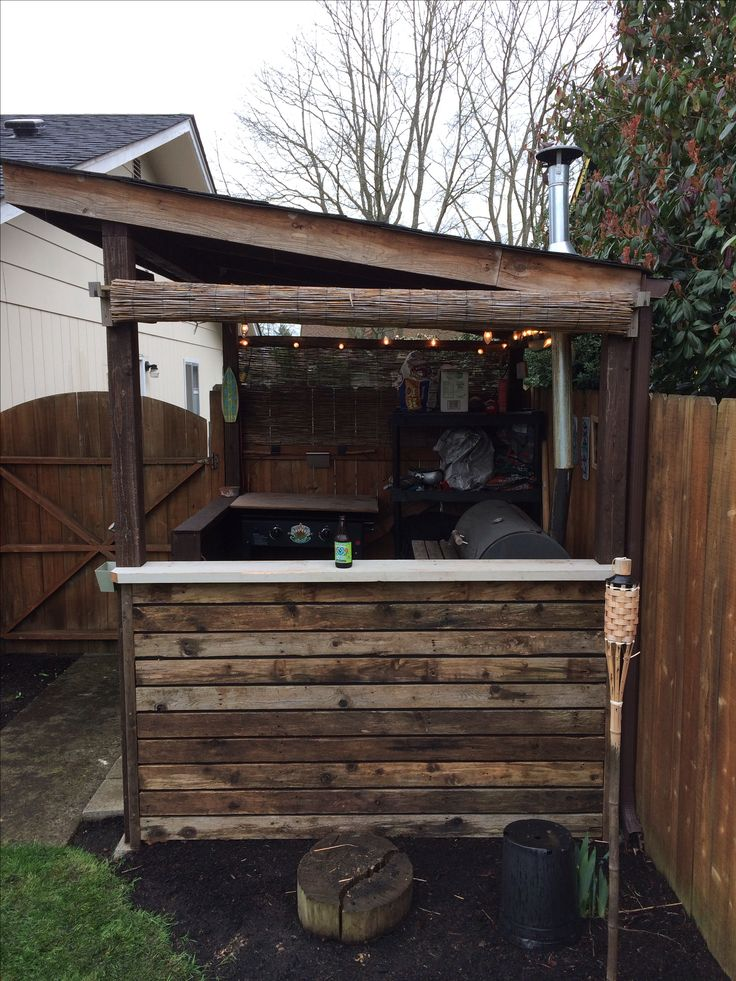 19 best bbq sheds images on pinterest backyard ideas for Outdoor kitchen shed