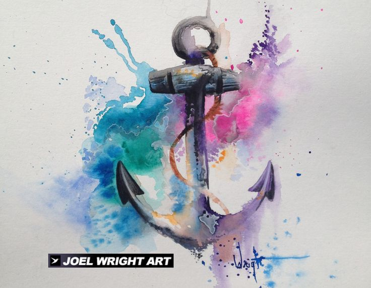 Watercolor Anchor Painting