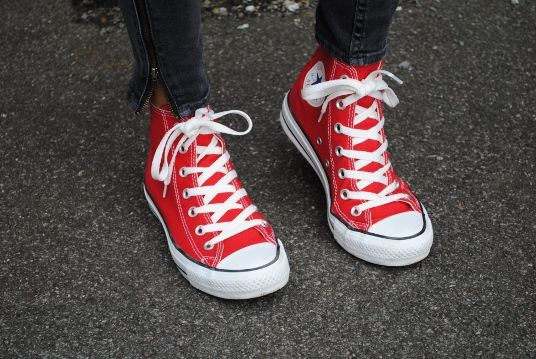 Converse rouge Da Shoes