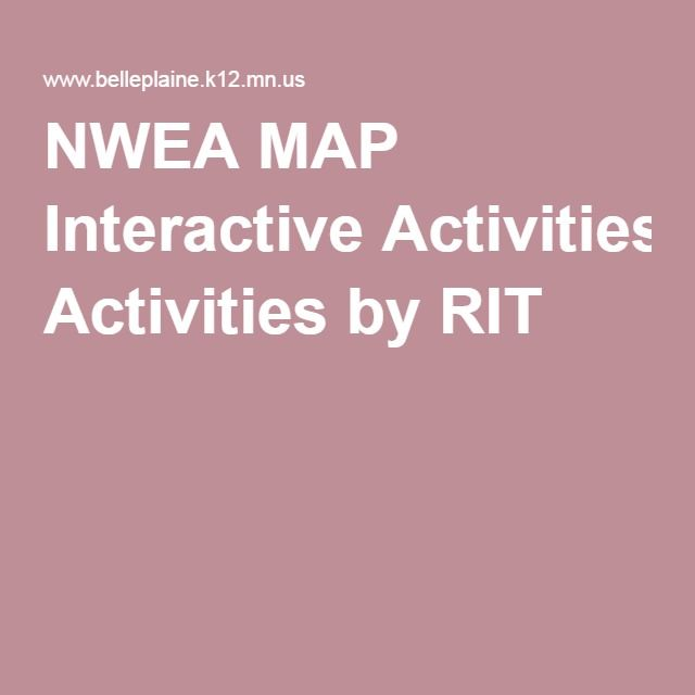 NWEA MAP Interactive Activities by RIT