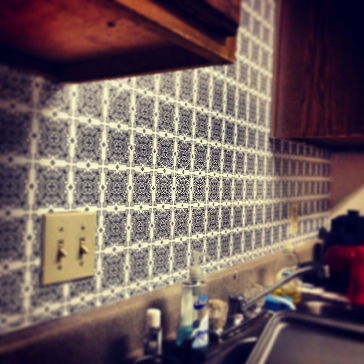 Kitchen Backsplash Contact Paper: Using Contact Paper As A Backsplash Or Wallpaper. Easy