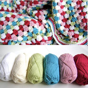Crochet Kit - Cath Kidston Inspired Baby Blanket KIT - Make Your Own Blanket - Great for Beginners
