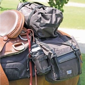 Supreme Trail Riding Saddle Bag Pack Camping Horse Black Tack Western Gear NEW on eBay!