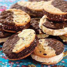 Split Decision Chocolate Chipper Ice Cream Sandwiches: King Arthur Flour