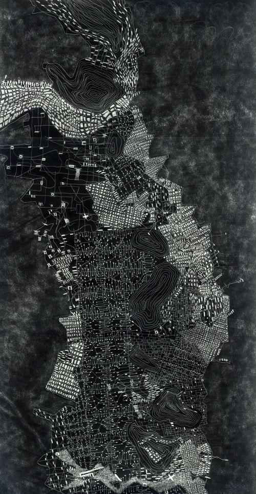 © Fabio Alessandro Fusco, La città peninsulare/The Peninsular city [black and white version], 2011