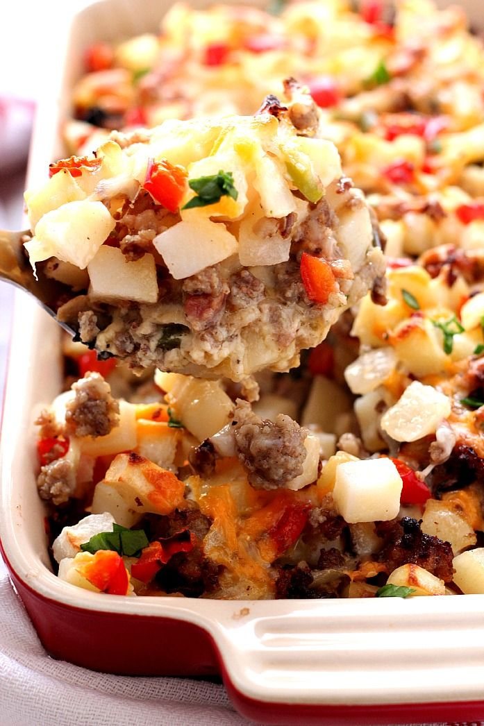 ... sausage, mushrooms, peppers, onions, hash browns, eggs and cheese