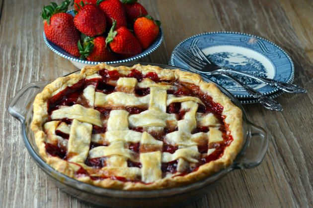 Baked Strawberry Pie is a glorious way to use fresh strawberries. Sweet and satisfying.