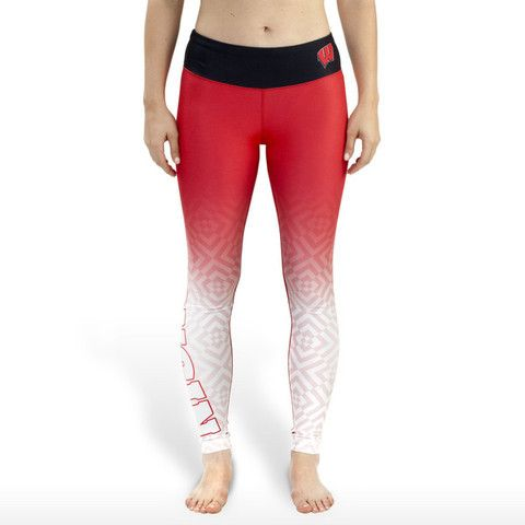 Wisconsin Badgers Official NCAA Womens Gradient Print Leggings