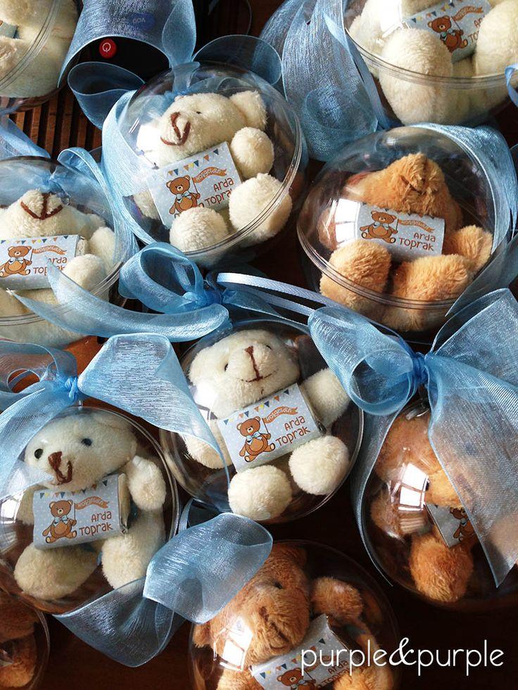 Ayıcıklı Hastane Odası Kapı Süsü | Hoşgeldin Bebek | Hastane Odası Süsleme | Şeffaf Kürede Ayıcıklı Anahtarlık | Dellicatess For Babies | Bebek Çikolatası | It's a boy