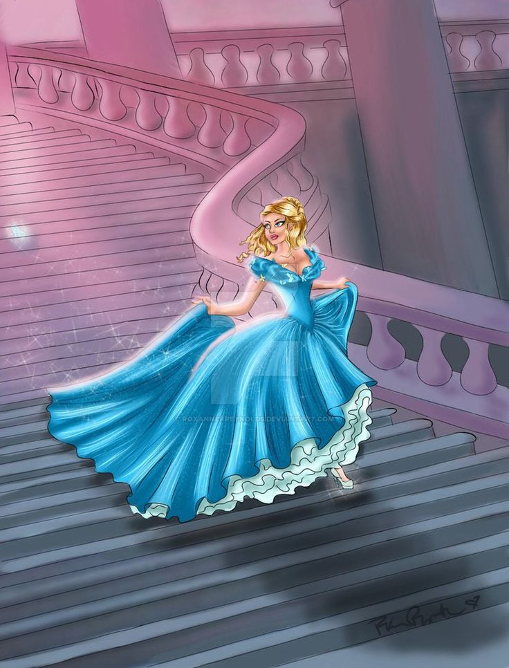 Cinderella leaving the royal ball at midnight | Cinderella ... Cinderella Running Away From The Ball