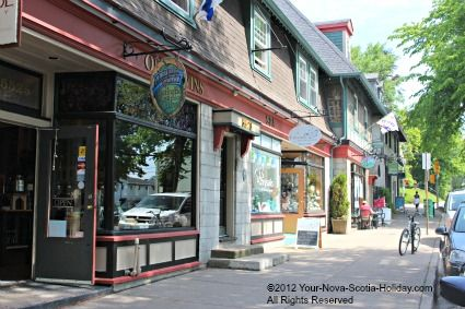 Visit the beautiful Hydrostone Market in Halifax, Nova Scotia for shops and restaurants with a European feel