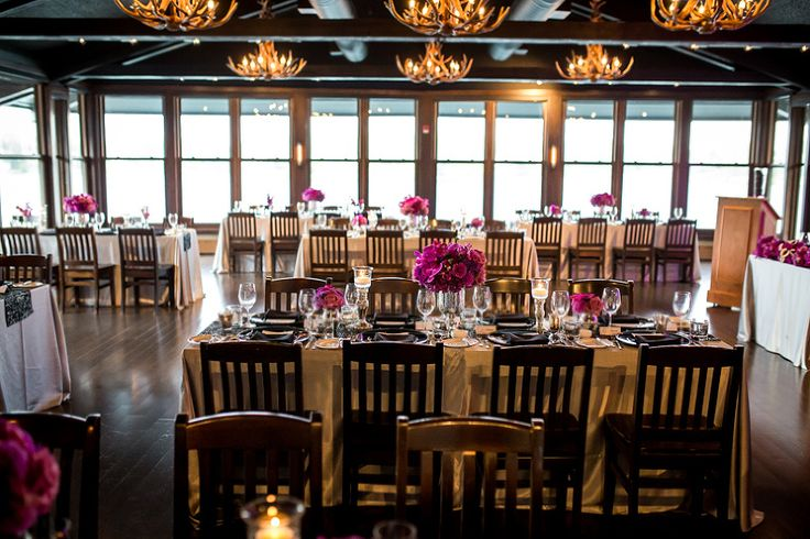 The beautiful tables, chairs, linens and flower decor at The Lakehouse.  Love the rustic feel of the venue and how the designs tied it all together - www.tlawphotography.ca