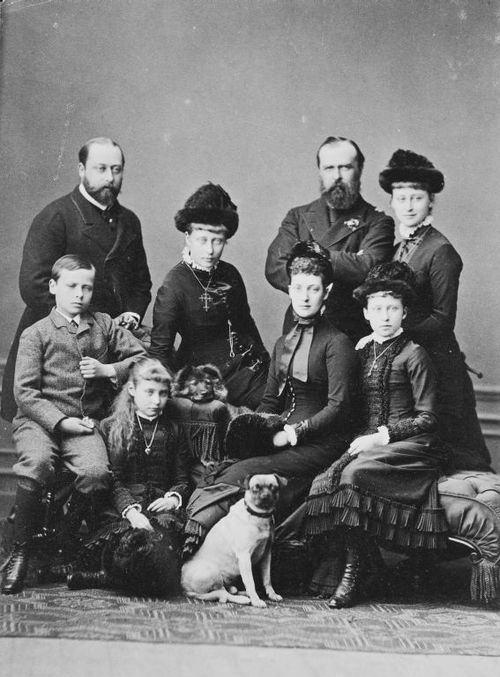 Grand Ducal Family of Hesse with Prince Edward and Princess Alexandra (later King Edward VII and Queen Alexandra)