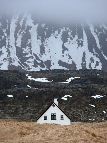 Iceland - the only place I want to live. Right there in that house.