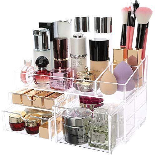 fb13e4e8f88b Chinashow Acrylic Makeup Storage Drawers - Cosmetics Jewelry Big ...
