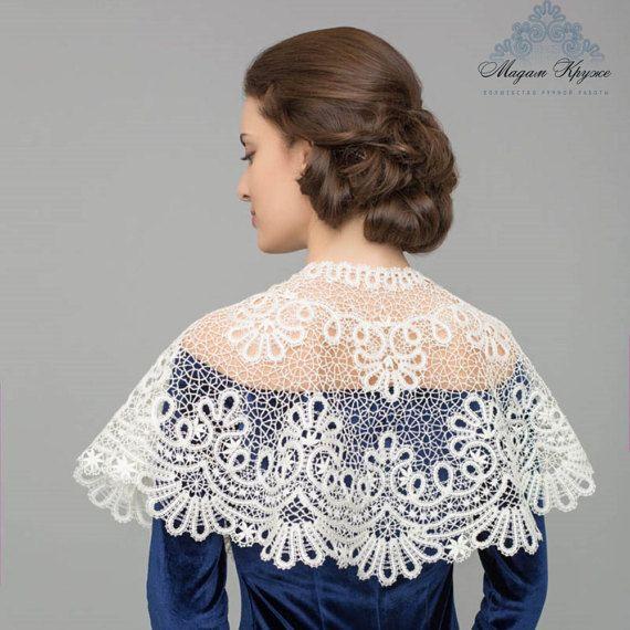 Lace Drape Frosty pattern Vologda bobbin lace wicker by MadamKruje
