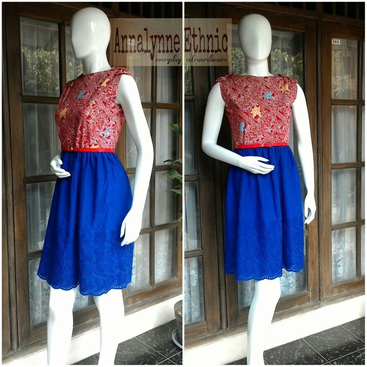 Batik Jepara midi dress combined