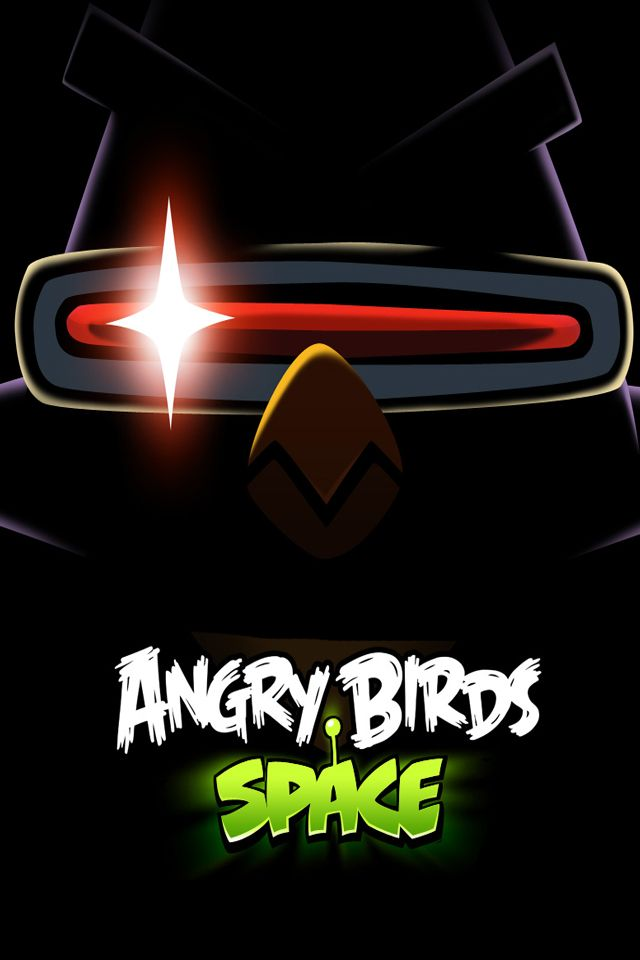 Angry birds space yellow laser bird dark iphone wallpaper - Angry birds space gratuit ...