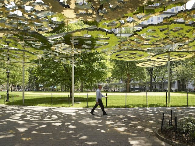 Enter a Mirage with Teresita Fernandez's Mirrored Canopy | The Creators Project
