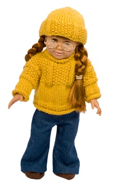 American Girl Doll sweater knitting pattern sample